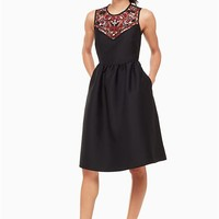 embroidered mikado dress