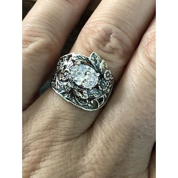 A Flawless Handmade 1.4CT Oval Cut Lab Diamond Engagement Ring