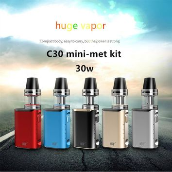 Original Electronic Cigarette ect C30 mini met kit 30W Box Mod vape pen 2ml 0.3ohm Atomizer Tank Vaporizer