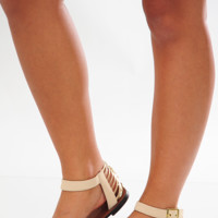 Instant Gratification Sandals: Cream