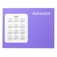 2016 Blue Berry Calendar by Janz Notepad
