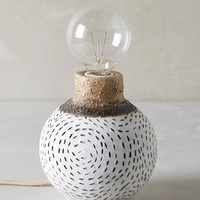 Handpainted Earthenware Lamp Base by Anthropologie