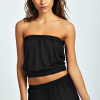 Chelsea Elastic Detail Crop Tube Top