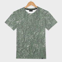 «Green Relief Pattern Abstract», Exclusive Edition Men's All Over T-Shirt by GittaG74 - From $44 - Curioos