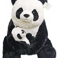 "Giant Pandas Plush Stuffed Animals - 18"" Teddy Bear with Baby Panda - Kids Toys - Gift"