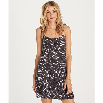 Billabong Women's Night Out Dress   Black and White