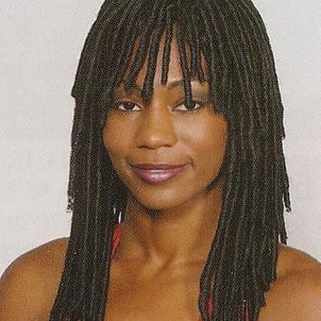 Long Dreadlock Wig Reggae Dreads Punk in Black, Dark Brown, Dark Auburn Bangs