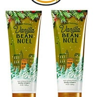 Vanilla Bean Noel Ultra Shea Triple Moisture Cream Body Lotion - Set of 2 - Bath and Body Works Holiday Traditions