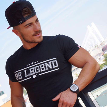 Gym Men Sports Short Sleeve Stretch Permeable Summer Jogging T-shirts [10657853059]