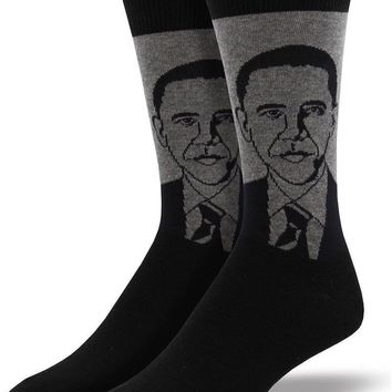 Barack Obama Men's Crew Socks