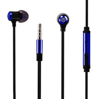 3.5MM EARPHONE WITH MIC & DOUBLE COLOR EARBUD TIPS NAVY