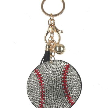 Home Run Baseball Stuffed Pillow Key Chain