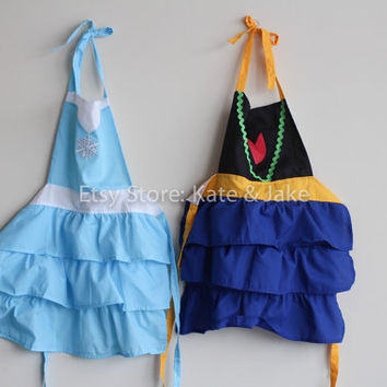 New Frozen Anna & Elsa kids girls apron snow queen princess costumes cute gift