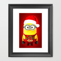 X'MAS MINIONS Framed Art Print by BESTIPHONE5CASESHOP