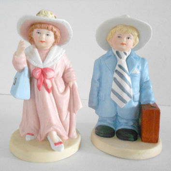Boy Figurine Girl Dressup HOMCO Figurines Home Interior 1488