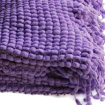 Baby Blanket -Reserved for Lindsay -  Lilac Super Soft Baby Blanket - Knitted Baby Blanket