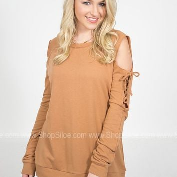 Sandy Brown Cut Sweater