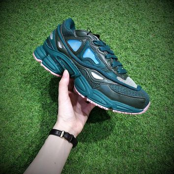 Raf Simons x Adidas Consortium Ozweego 2 Green Women Men Casual Trending Running Sports Shoes Sneakers