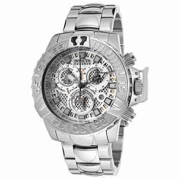 Invicta 14487 Men's Subaqua Noma II Chronograph Silver Perforated Dial Dive Watch