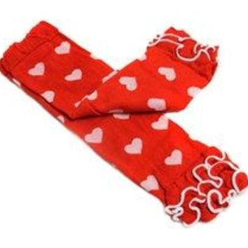 Valentine's Day Red and White Heart Legwarmers