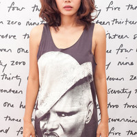 GRACE JONES T Shirt Super Model Star Women Black T-Shirt Vest Tank Top Singlet Sleeveless Size S M