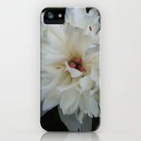 white flower iPhone & iPod Case by Julie Jacquinot