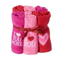 Valentine's Day 6-pack Washcloths