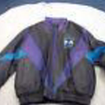 CHARLOTTE HORNETS NBA VINTAGE PRO PLAYER GENUINE LEATHER JACKET SHIPPING!!