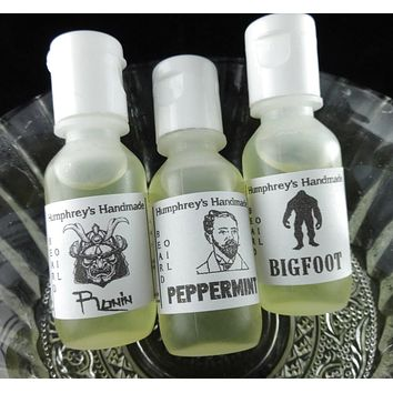 PICK ANY 3 Men's Premium Argan Beard Oils | Nut Free | Vegan | Beard Oil Sampler