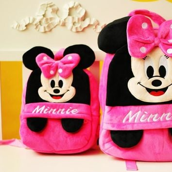 Children's backpacks for girls toys mickey backpack children backpacks with minnie
