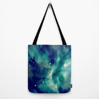Blue, Sky, Night, Clouds, Stars, Supernova - Tote Bag - 3 Sizes Available - Grocery, Beach, Busy Mom, Coworker, Teacher -Made To Order-SN#83