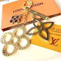 LV new simple personality bag keychain