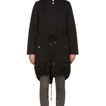 Marc By Marc Jacobs Black Cotton Layered Classic Coat