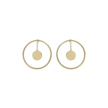 Botkier Women's Gold Open Circle & Drop Disc Earrings