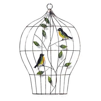 Modern Iron Bird Cage Wall Hanging Decoration   D