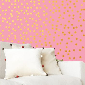Polka dot wall decals, Gold Polka dot, Polka Dots decor, Nursery decor