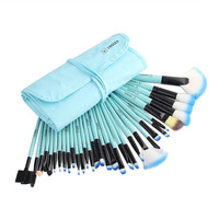 Professional 32 pcs 1SET=32pcs Makeup Brush Set Tools Make-up Toiletry Kit Wool Brand Lip Make Up Brush Set Case Pink Black