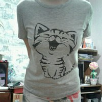 Cute Kitten Shirt - Harajuku Style