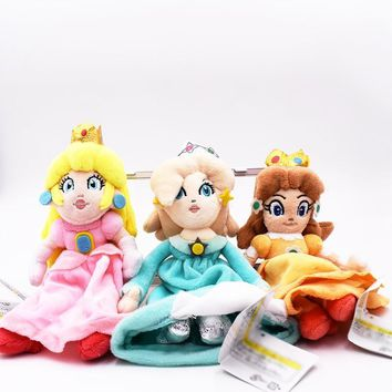 Super Mario party nes switch 3 Styles  Bros Plush Princess Peach Daisy Rosalina 22cm Soft Doll Toy Cute Xmas Gifts Cute Girl Plush Toys AT_80_8