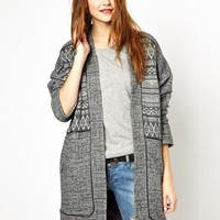 ASOS Light Weight Coat with Pattern Panels