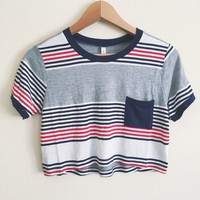 Char Striped Pocket Tee