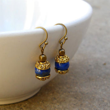 Compassion, Genuine Lapis Lazuli Gemstone Earrings