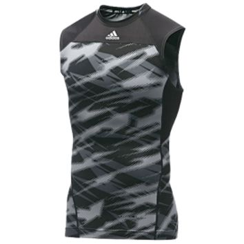 adidas Men's TechFit Sting Impact Camo Sleeveless Compression Shirt