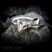 Carpe Diem 925 Sterling Silver Bow Ring Rings Wedding Engagement Band Jewelry Jewellery CDR-099
