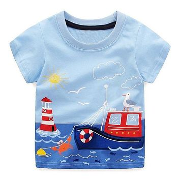 Lighthouse Boat On The Water Tee