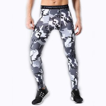 Bike Men's Camo Pants Tights Joggers Cycling Camouflage Compression Long Pants Men Leggings Trousers Clothing Bicycle Sweatpants