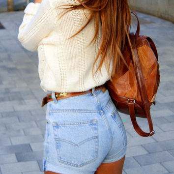 2015 Summer Fashion Women Jeans Shorts Skinny High Waist Shorts Jeans Hole Fringe Every Game Sexy Short Pants Shorts Jeans 60