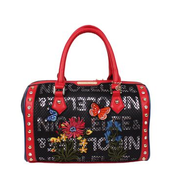 AMARO FLOWER EMBROIDERY BOSTON BAG - NEW ARRIVALS