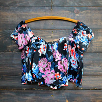 floral gypsy off the shoulder top