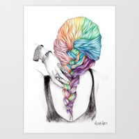 Braid Art Print by Krista Rae